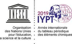 Logo de l'année internationale du tableau périodique des éléments chimiques